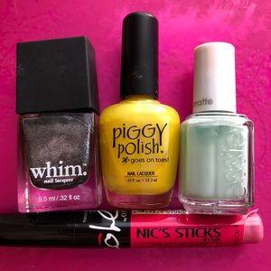 4 Name Brand Nail Polish Set Bundle